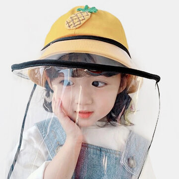Buy Childrens Dust Cap Detachable Face Screen Windproof Transparent Fisherman Hat with 4 on Gipsybee.com