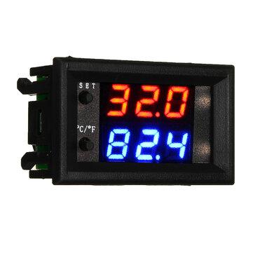 W2809 W1209WK DC12V Digital LED Thermostat Temperature Controller Module Smart Temp Sensor Board  with Waterproof NTC Sensor