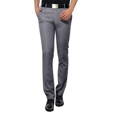 पुरुषों के व्यापार आरामदायक सूट पैंट ग्रीष्मकालीन गैर इस्त्री शिकन मुक्त स्लिम फिट फीट पतला प