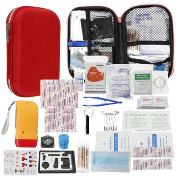 Upgraded Outdoor Emergency Survival First Aid Kit Gear for Home Office Car Boat Camping Hiking Travel or Adventures