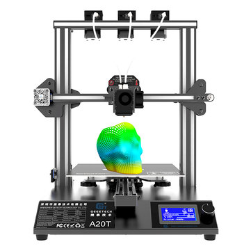 Geeetech® A20T Mix-Color 3D Printer with 250*250*250mm Printing area/Triple Extruder/3 in 1 Nozzle/Filament Detector/Power Resume/Open Source Mainboard/Support Wifi Connection and Auto Leveling