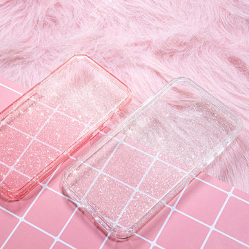 Rock Shockproof Transparent Soft TPU+Hard PC Bling Glitter Shiny Phone Protective Case for iPhone 11 Pro Max 6.5 inch