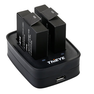 Thieye Dual Battery Charger With 1100mAh Two Li-on Batteries Quick Charging When ShootingCar DVRsfromAutomobiles & Motorcycleson banggood.com