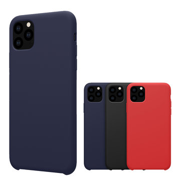 NILLKIN Smooth Shockproof Soft Liquid Silicone Rubber Back Cover Protective Case for iPhone 11 Pro Max 6.5 inch