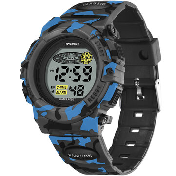 SYNOKE 9035 Kids LED Colorful Luminous Kamuflase Sport Digital Watch