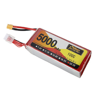 ZOP Power 22.2V 5000mAh 100C 6S Lipo Battery XT60 Plug for RC Drone Helicopter Car