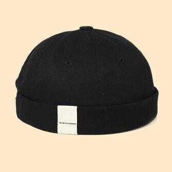 New Avene Style Casual Street Retro Hip Hop Innocent Landlord Hat Vintage Innocent Metal Standard Sailor Brimless Hats