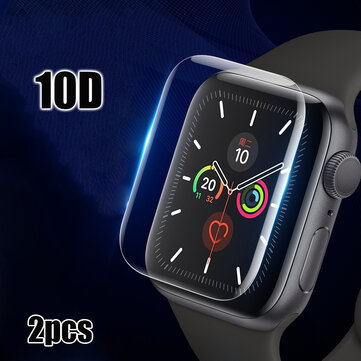 Bakeey 2 STK 40 / 44mm 10D Anti-scratch HD Clear Full Cover Soft Hydrogel Flim Skjermbeskytter for Apple Watch Series 5/Apple Watch Series 4