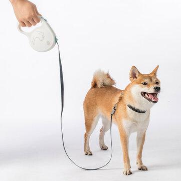 Jordan & Judy Pet Tração Telescópica Corda Trava de Segurança Tração Cachorro Tração Corda Trela de Viagem para Animais de Estimação de Xiaomi Youpin