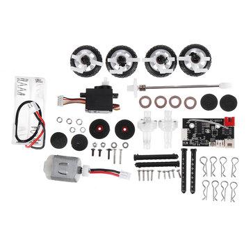 SINOHOBBY DIYQ1 128 2.4G AWD RC Car Kit Full Proportional with Motor Servo Transmitter