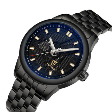 TEVISE 9008G Business Style Automatic Mechanical Watch Full Steel Luminous Display Men Watch