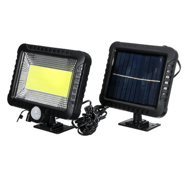 PRee® COB 100LED 30W 600Lumen IP65 Solar Lamp Outdoor Park Yard Garden Light Camping Light Work Light