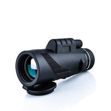 IPRee® 40x60 Monocular Optical HD 2000T Lens Telescope BAK4 Day Night Vision 1500m/9500m Outdoor Camping Hiking