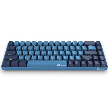 Akko 3068 SP Ocean Star 68 Keys Cherry Växla Sidotryckt USB 2.0 Type-C Kabeldraget mekaniskt speltangentbord