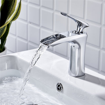 Waterfall Tap Bathroom Basin Sink Faucet Single Handle Water Mixer Tap
