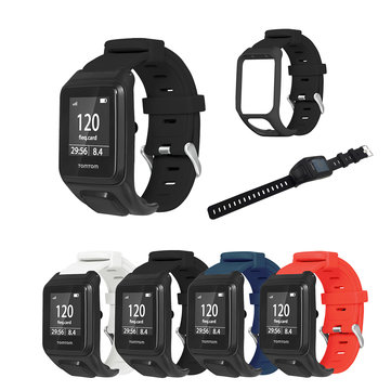 Bakeey Silicone Watch Strap Smart Watch Band for TOMTOM Runner 3/Adventurer Smart Watch