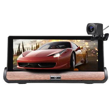7 Inch HD Car DVR GPS Dual Lens Navigation Rear View Dash Camera Recorder 3G + Wifi