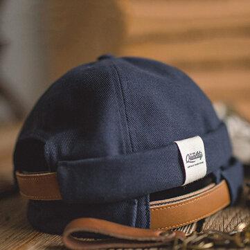 French Retro Classic Elegant Sailor Cap Cold Hat Wild Pure Color Melon cap Brimless Hats