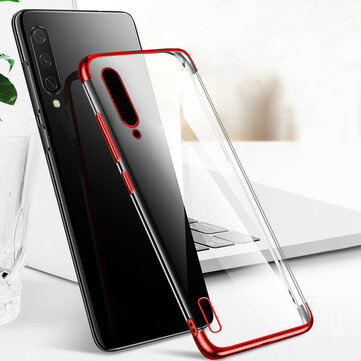 Bakeey Plating Ultra-thin Transparent Soft TPU Shockproof Protective Case for Xiaomi Mi 9 Lite / Xiaomi Mi CC9 6.39 inch