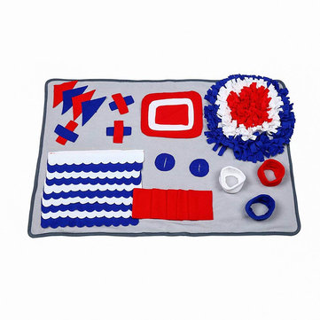 Portable Pet Blanket Machine Washable Bite Resistant Cat Dog Sniff Pad Puzzle Relieve Stress Slowly Eating Environmental Training Blankets
