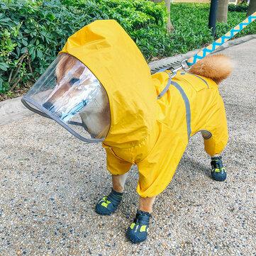 宠物狗雨衣四脚防水PetS物品适合小米雨拼雨天的春季服装