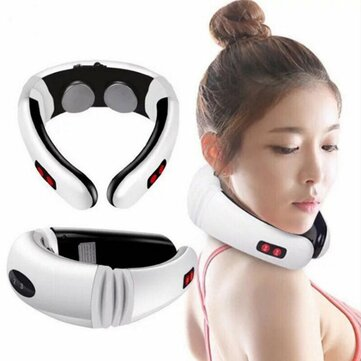 Hot Electric Cervical Neck Support  Massager Body Shoulder Relax Massage Magnetic Therapy