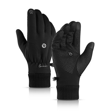 Men Women Touch Screen Gloves Winter Waterproof Warm Windproof Riding Skiing Sports Outdoor Fleece Lined Thermal