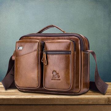 Originální kožená pánská taška Vintage Messenger Taška Aktovka Kabelka Taška přes rameno Satchel Bag