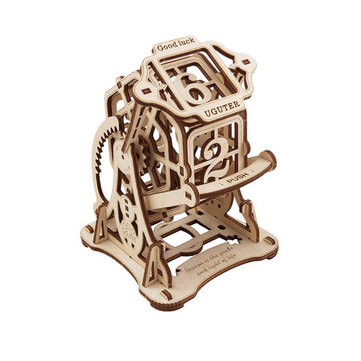 3D Antique Self-Assembly Wooden Good Luck Wheel Number Dice Laser Cut Parts Puzzle Building Kits Mechanical Model DIY Gift Decorations