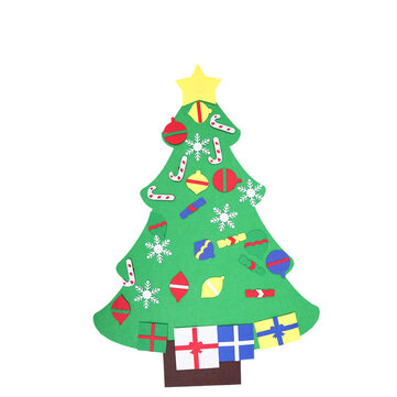 Loskii DIY Three-Dimensional Cloth Christmas Tree Large Christmas Hanging Gift Art Nature Home Decorations