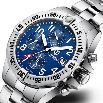 TEVISE T839B Metal Case Multi Function Automatic Mechanical Watch Luminous Display Men Watch