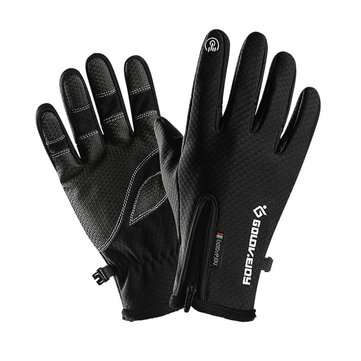 Windstopers Skiing Gloves Anti Slip Touchscreen Breathable Water Repellent Zipper Warm Glove