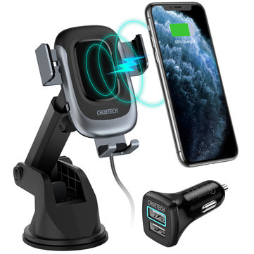 Bakeey 15W 10W Automatic Induction Fast Charging Wireless Car Charger Holder For iPhone XS 11 Pro Huawei P30 Pro Mate 30 Xiaomi Mi9 9Pro
