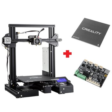 Creality 3D Customized Version Ender 3Xs Pro Prusa I3 3D Printer 220x220x250mm Printing Size With Magnetic Removable Sticker or Glass Plate Platform or V1.1.5 Super Silent Mainboard