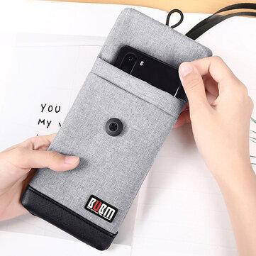 BUBM 4.7 / 6 इंच फोन बैग वेलवेट Soft पावर बैंक स्टोरेज बैग यूएसबी केबल हैंडबैग पोर्टेबल यात्रा