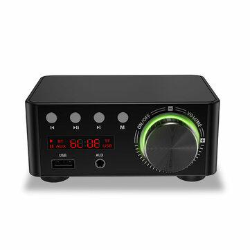 TPA3116 Class D bluetooth 5.0 HIFI 2x50W Stereo Amplifier Support USB TF Card RCA AUX USB Stick