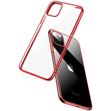 Cafele Plating Ultra-thin Shockproof Translucent Soft TPU Protective Case for iPhone 11 6.1 inch