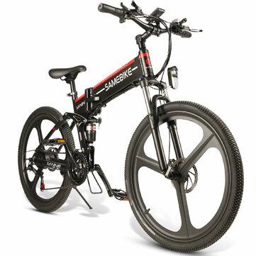 [EU Direct] SAMEBIKE LO26 10.4Ah 48V 350W Moped Electric Bike 26 Inches Smart Folding Bike 35km/h Max Speed 80km Mileage Max Load 150kg With EU Plug