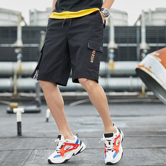 Men's Casual Shorts Loose Sports Large Size Five Pants Men's Thin Straight Straight Shorts