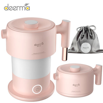 Deerma DEM-DH200 600W Portable Travel Folding Electric Kettle 304 Stainless Steel Liner 1L Capacity