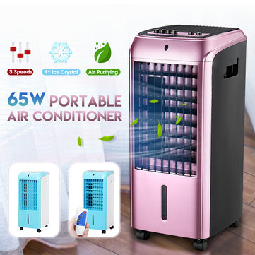 3 Speed Portable Air Conditioner Conditioning Cooling Fan 65W w/ Ice Crystal Box