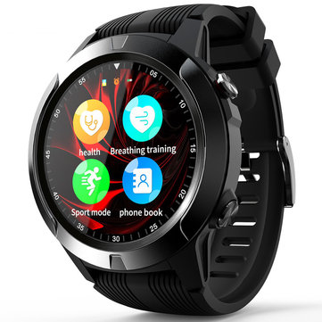 LOKMAT M4 2G 128+64MB GPS IP67 Waterproof Smart Watch Phone 1.3in Touch Screen Music Player HR BP Monitor Multiple Languages Stopwatch Sports Fitness Bracelet