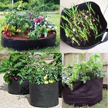 Black Thickening Fabric Pot Plant Pouch Root Container Grow Bag Tool Gift