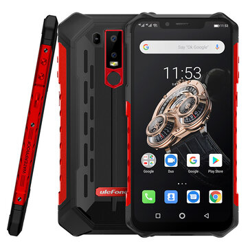 Ulefone Armor 6S NFC IP68 IP69K Waterproof 6.2 inch 6GB 128GB 5000mAh Wireless Charge Helio P70 Octa core 4G Smartphone