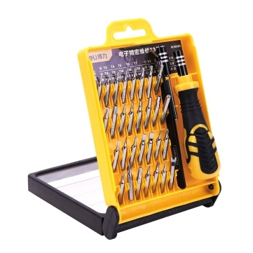 DELI 33 In 1 Precision Electronics Repair Screwdriver Tweezer DIY Toolkit For Tablets Phone Computer Laptop PC Watch