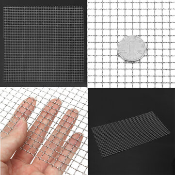 Stainless Steel Woven Wire Mesh Filter Grading 30cm Sheet Silk to Heavy Gauze