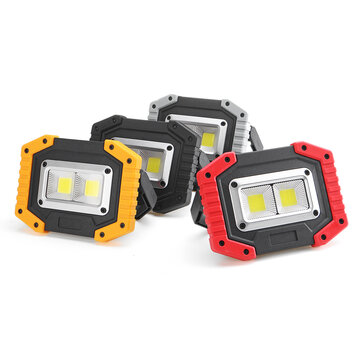 XANES® 24C 30W C0B LED Work Light Waterproof Rechargeable LED Floodlight for Outdoor Camping Hiking Fishing Emergency Car Repairing