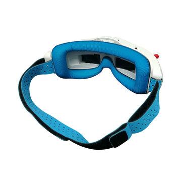 URUAV FPV Goggles Faceplate Lycra Fabric Sponge Pad Replacement w/ Head Strap for Eachine EV200D