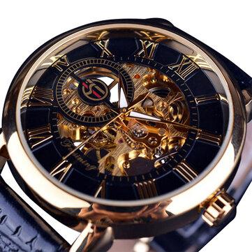 Forsining GMT838 3D Hollow Engraving Design Luminous Display Fashion Men Automatic Mechanical Watch