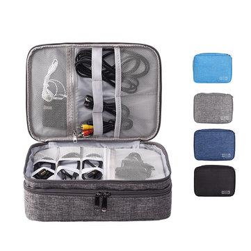 IPRee® Multi-function Data Cable Storage Bag Waterproof Men Women Bag Storage
